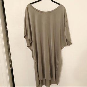 Zara Silky Taupe Shirt Dress